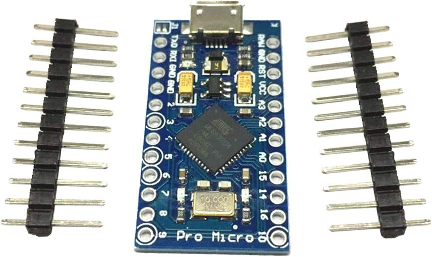 D DOLITY Pro Micro 5V 16MHz Compatible ATMEGA 32u4 Microcontroller Development Board with Pin Header
