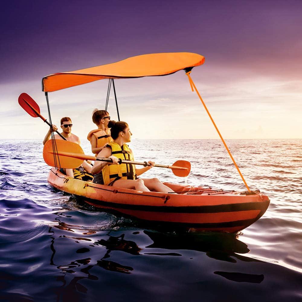 KUUQA Kayak Boat Canoe Sun Shade Canopy for Single Person(Orange)