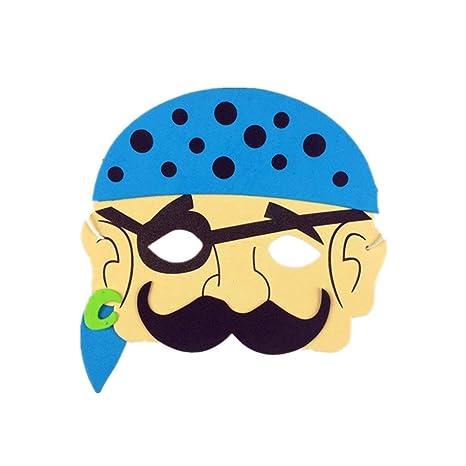 Máscara de patrón de dibujos animados, Máscaras de dibujos animados para niños Favores de la