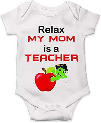 Amazon.com: Lucky Star Funny Teacher Mom Bodysuit Baby