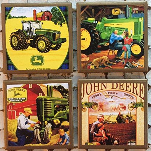 John Deere Coasters - John Deere coasters with gold trim