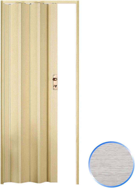 Forte Puerta Plegable de Interior de PVC Roble Blanqueado 88,5x214 cm Mod.Luciana