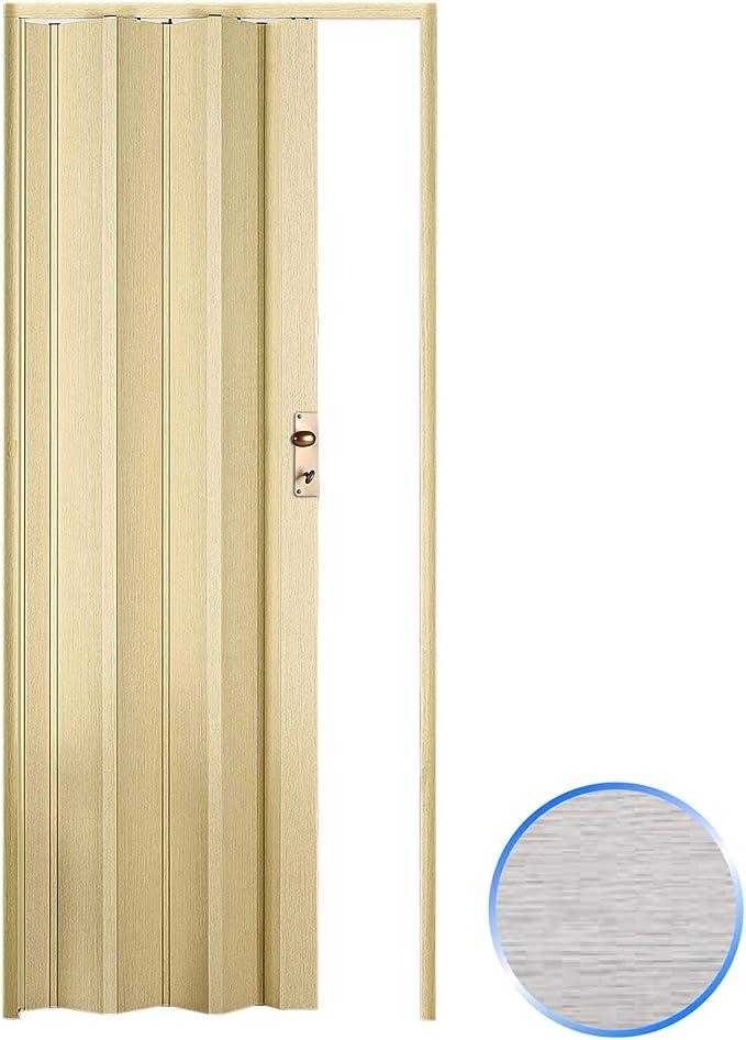 Forte Puerta Plegable de Interior de PVC Roble Blanqueado 88,5x214 ...