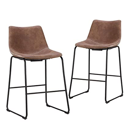 Amazon Com Lch 24 Inch Vintage Metal Bar Stools Set Of 2 Wear