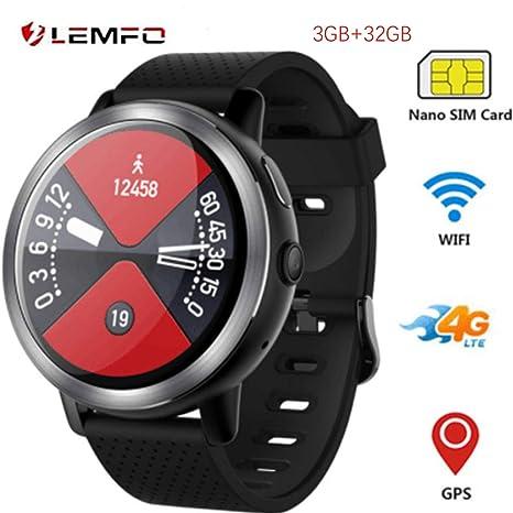 Amazon.com: LEM8 Smart Watch, Android 7.1.1 4G LTE, 2MP ...