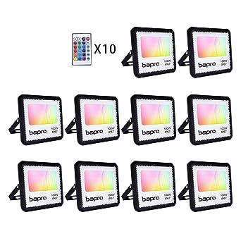 Foco LED 10 * 100W RGB con control remoto, proyector IP67 ...