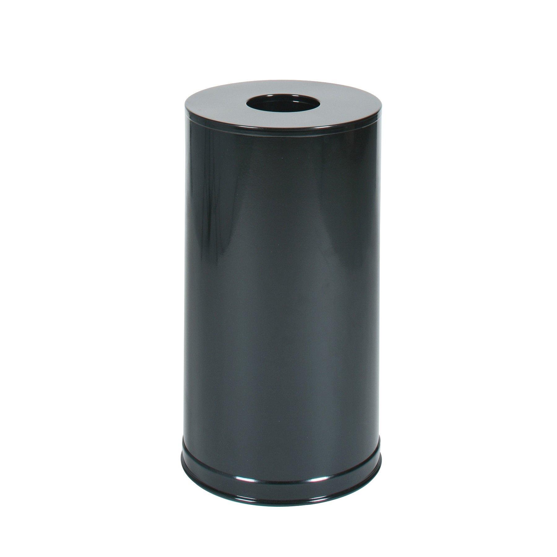 Rubbermaid Commercial Metallic Series Trash Can, 15 Gallon, Black Gloss