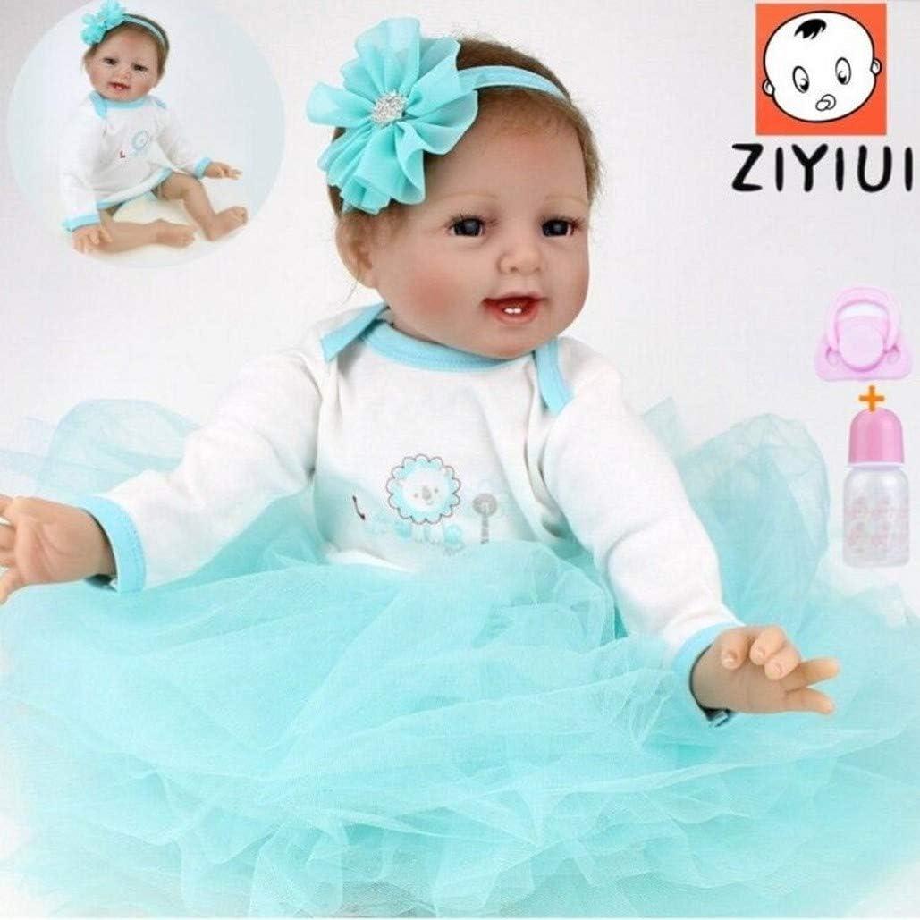 ZIYIUI Bebés Reborn Muñecas 22 Pulgadas 55cm Realistas Suave de Silicona Vinilo Bebes Reborn Niña Recién Nacido Juguete