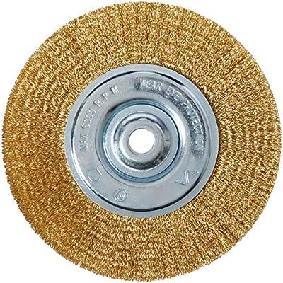 Vermont American 16802 6-Inch Fine Brass Wire Wheel with Arbor