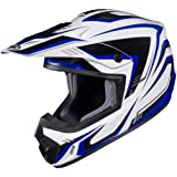 HJC CS-MX II Edge Off-Road Motorcycle Helmet White Blue Medium