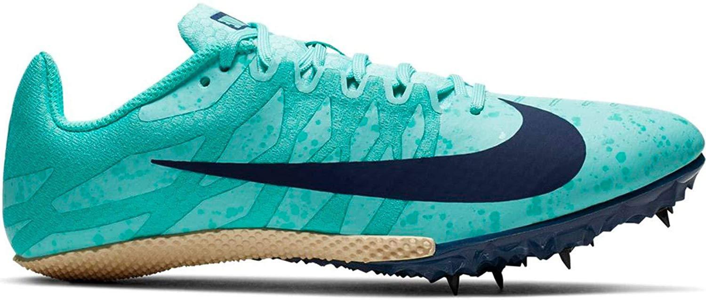 Nike Women's Zoom Rival S 9 Track Spike Aurora Green/Blue Void/Hyper Jade Size 9 M US