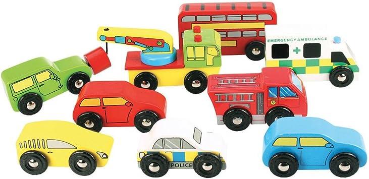 Bigjigs - Pack vehículos (BIBJT060): Amazon.es: Juguetes y juegos