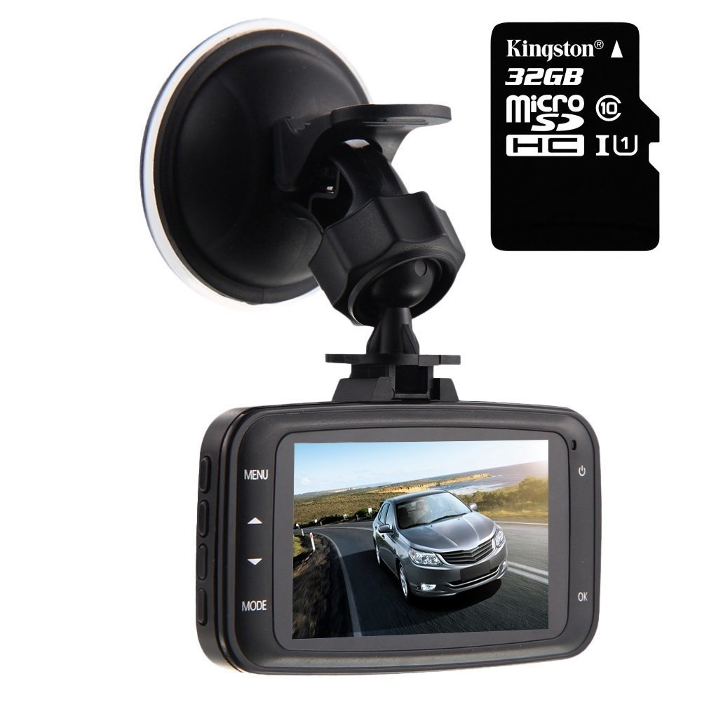 GS8000L Car DVR 1080P,HD Black Box Traveling Driving Data Recorder Camcorder Vehicle Camera Night Version Dashboard Dash Cam With 120 Degree Angle View Black Umootek