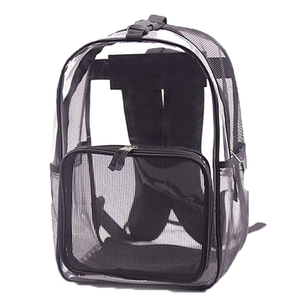 Black PETIN-Pet backpack Pet Carrier Cat Carrier Portable Pet Bag Comfortable Loose Out Travel Hiking Camping Size L30cmW20cmH42cm (color   Black)
