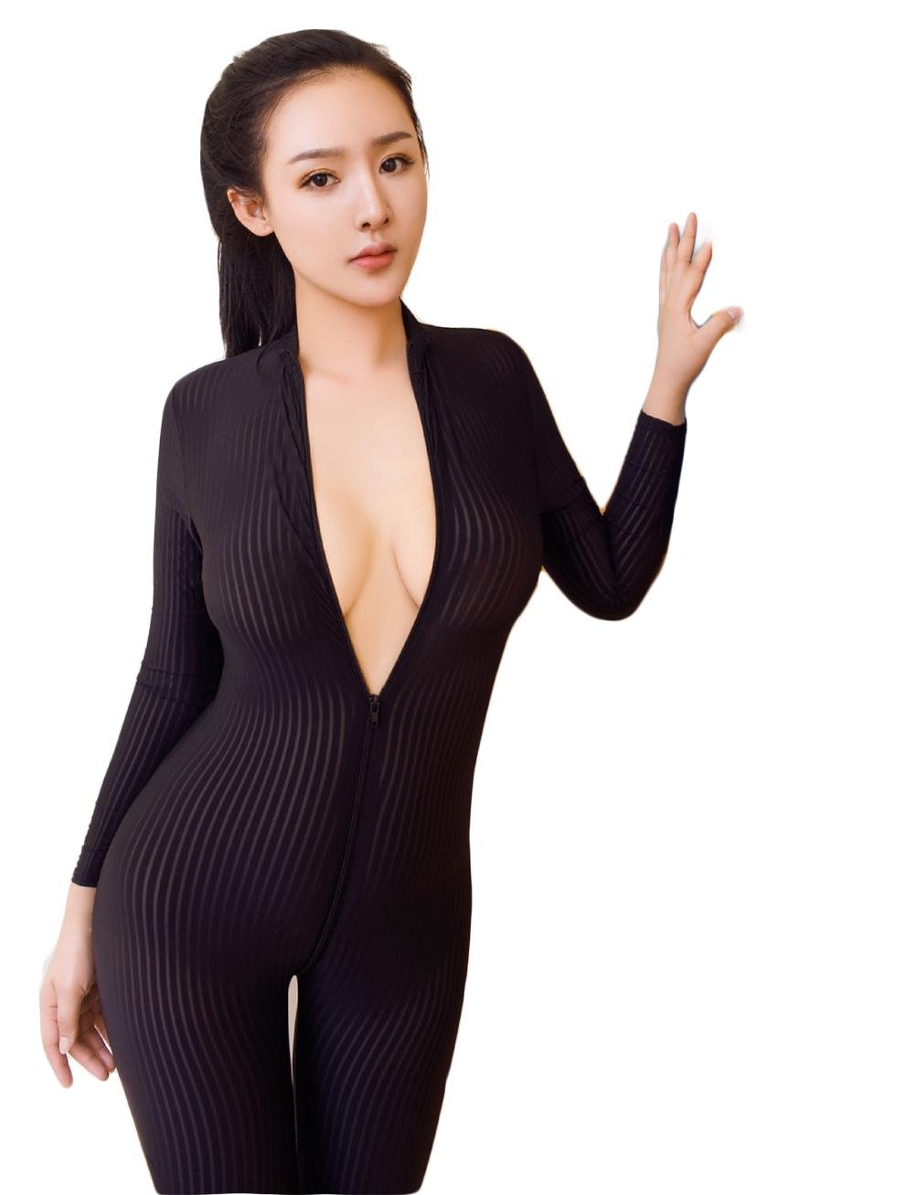 Women Sexy Open up Siamese Beam suit Lingerie Costume Catsuit Catwoman Jumpsuit Clubwear, black, one size: Amazon.co.uk: Sports & Outdoors