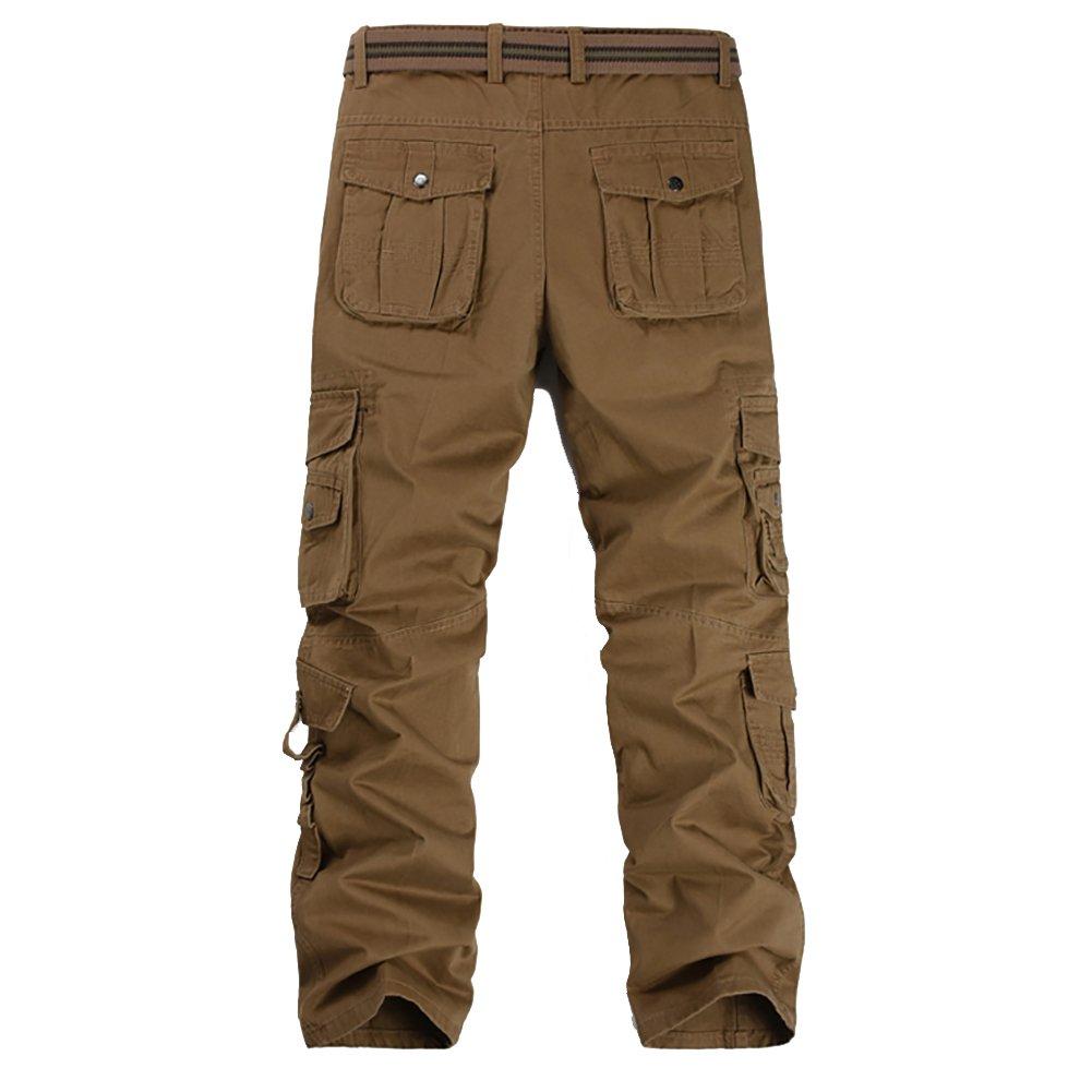 Pantalones de Trabajo Pantalones de Trabajo Allthemen Pantal/ón Cargo Regular Pantalones de Trabajo de Combate para Hombres con 8 Bolsillos