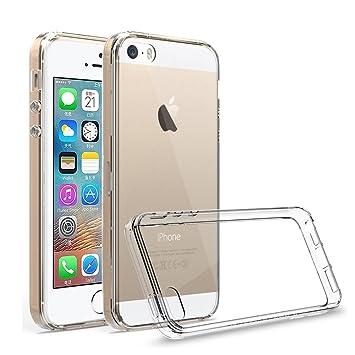 Dolphin..© Passend für Apple iPhone 5 5S SE [Anti-Rutsch] - [Blasenfrei] - [Ultra Slim] Hülle Soft Silikon Transparent Dünn S