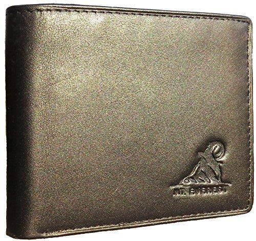 Mt. Eston RFID Blocking Trifold Bifold Mens Leather Wallet, 18 Pocket Extra...
