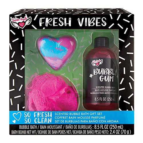 Gum Womens Bubble (Fashion Angels Fresh Vibes Scented Bubble Bath Gift Set, Bubble Gum)