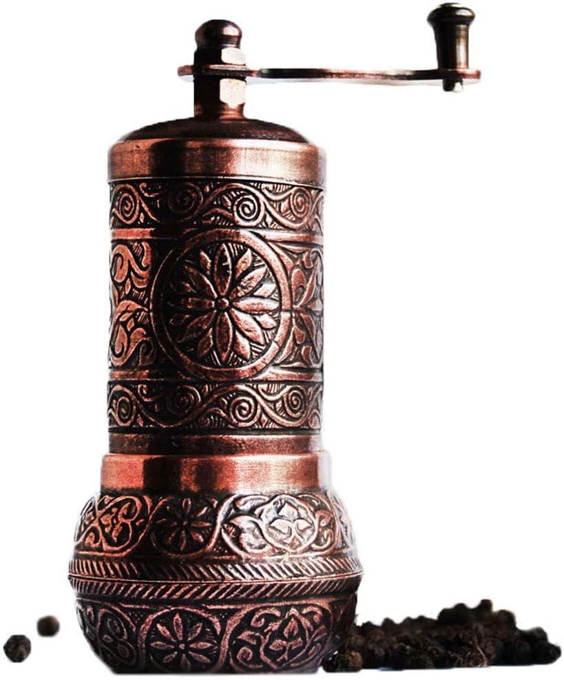 Turkish Copper Pepper Salt Spice Seed Mill Grinder 4.3 inch