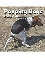 Pooping Dogs 2021 Calendar: Funny Pooches Nature Calls Wall Planner - For Dog Lovers, Joke, Gag, White Elephant, Secret Santa, Birthday, Stocking Filler, Christmas - Gift Idea