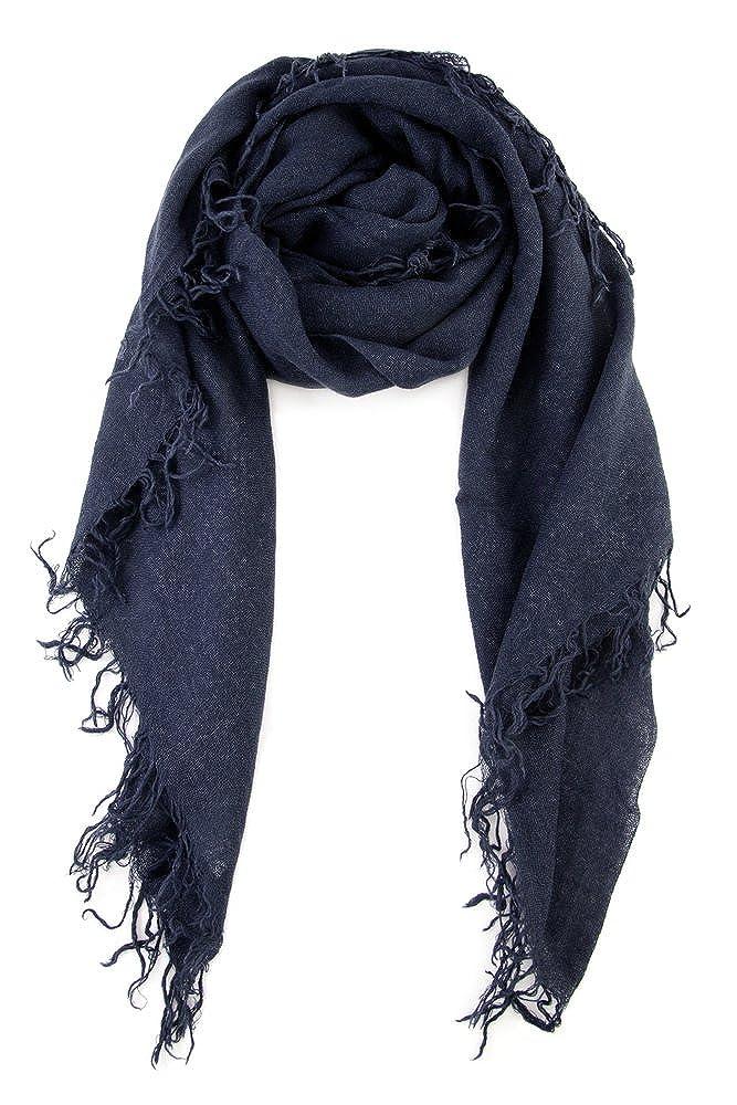 Chan LUU NEW Blue Night Beautiful Cashmere & Silk Soft Scarf Shawl Wrap BRH-SC-140