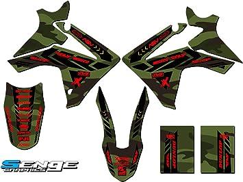 Senge Graphics kit compatible with Honda 2008-2017 CRF 450X Apache Green Base Graphics kit