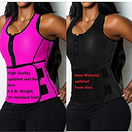 ac528c1cf0a39 Image Unavailable. Image not available for. Color  shoppingmal 2018 Women  Sweat Neoprene Sauna Waist Trainer Vest Hot Shaper ...