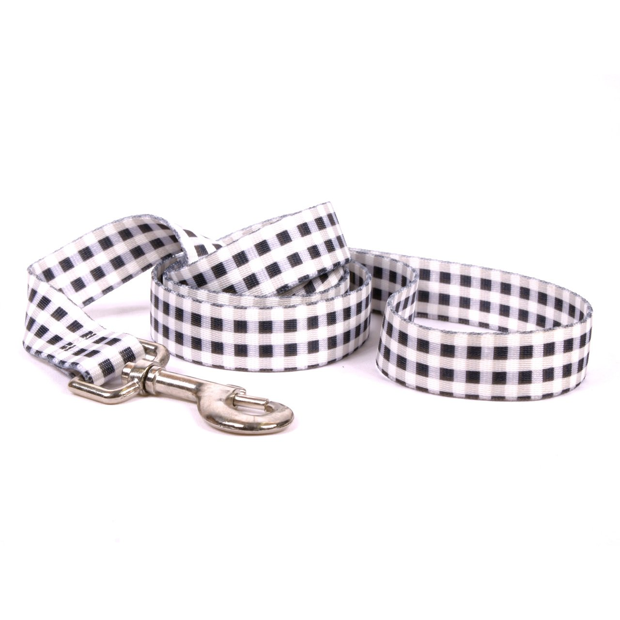 Yellow Dog Design Gingham Black Dog Leash 3/8'' Wide And 5' (60'') Long, X-Large