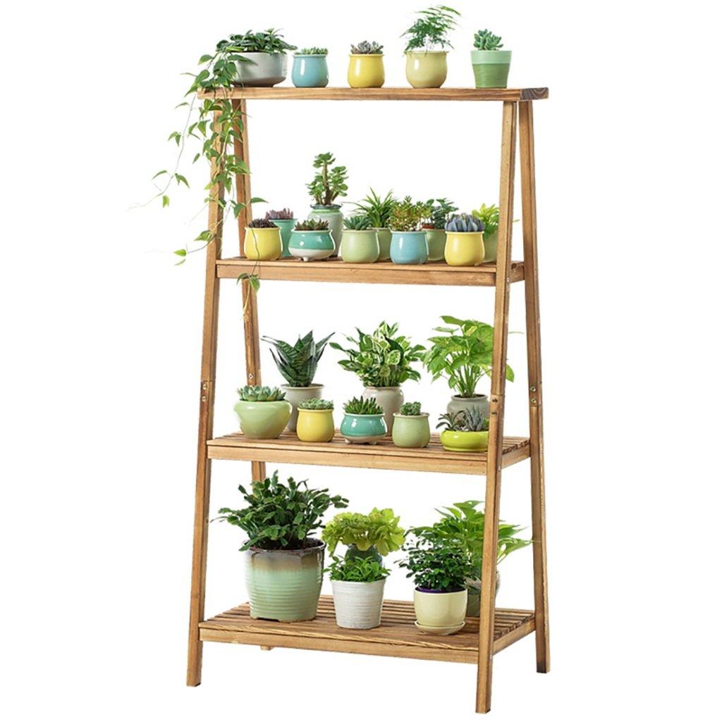 Pianta di pianta Flower Wooden Steps 4 Tier Flower Display Mensola da Giardino, pianta Stand Stair Mensola di Fiori Multi Livello