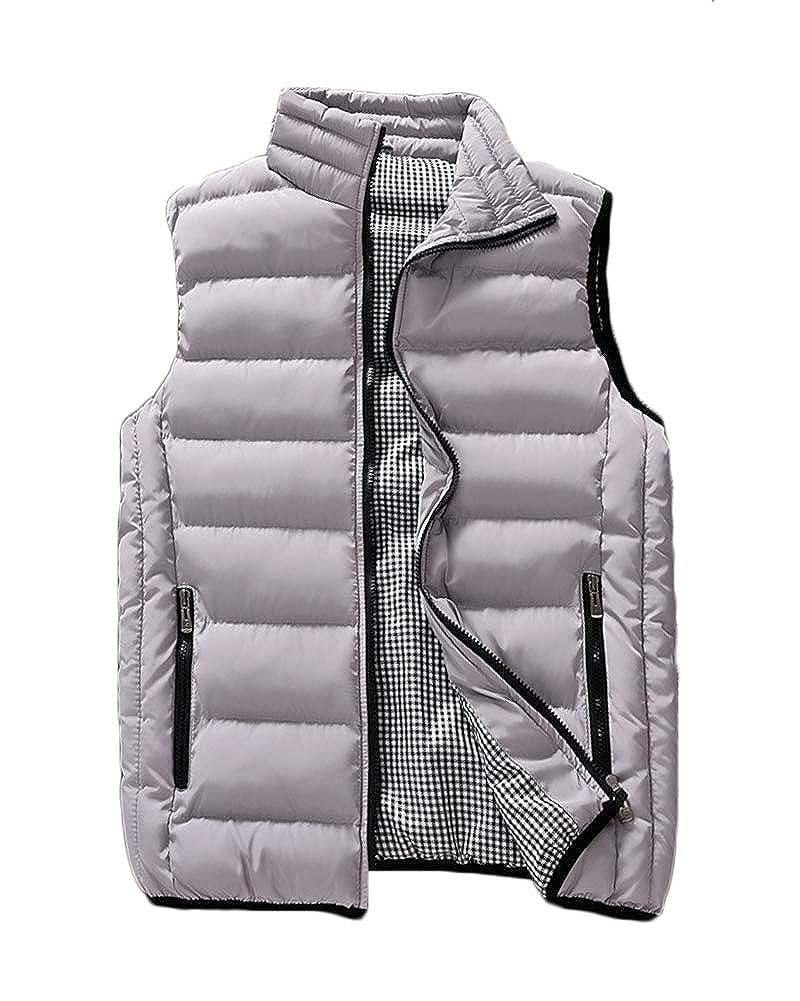 ZongSen Mens Winter Outdoor Puffer Vest Body Warmer Quilted Waistcoat Padded Sleeveless Jacket