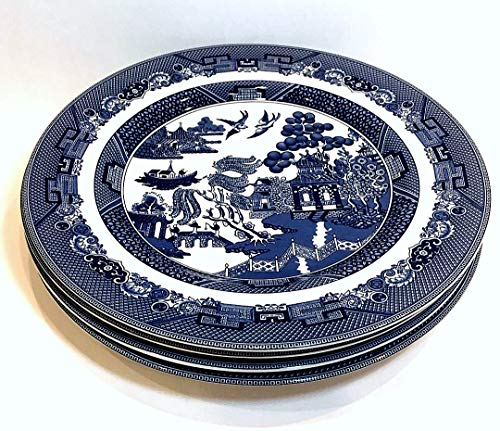 Johnson Bros Blue Willow - Johnson Brothers Bros Blue Willow Dinner Plate, Set of 4