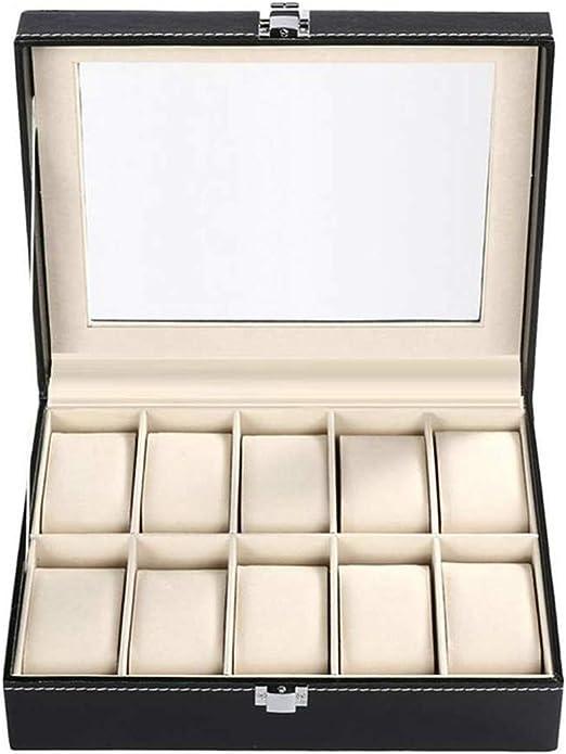 310 PU Fente Cuir boîte de Montre Bijoux Bracelet Collier