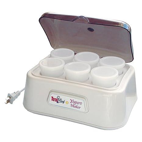 amazon com total chef tcy 2368 yogurt maker kitchen dining rh amazon com Dash Yogurt Maker Greek Yogurt Maker
