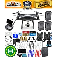 DJI Phantom 4 Pro+ Black Obsidian Edition Drone Pro Bundle With Rolling Case, Vest Strap, Extra Props, Filter Kit Plus Much More (3 Batteries Total)