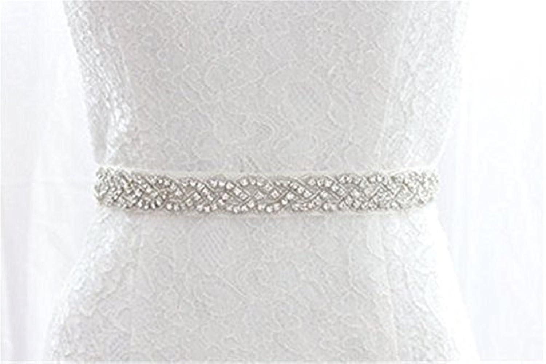 Trlyc Aplique para traje de novia, incluye cristales brillantes, color marfil ivory ribbon