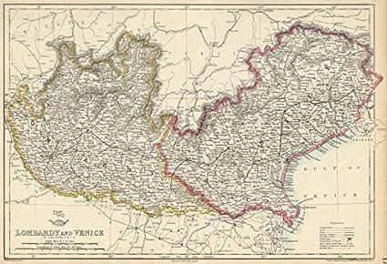 Lombardy Venice Austrian Kingdom Of Lombardy Venetia Italy