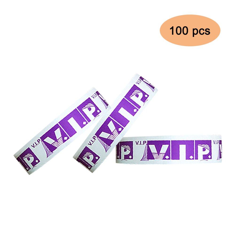 VIP 100 pezzi Braccialetti di identificazione Tyvek3/4 braccialetti di carta, usati per eventi, discoteche, parchi acquatici ecc.-arancia O-center PET014-10