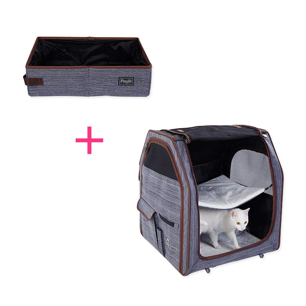 B Collapsible Portable Cat Litter Box for Travel Light Weight Foldable Cat Toilet (color   B)