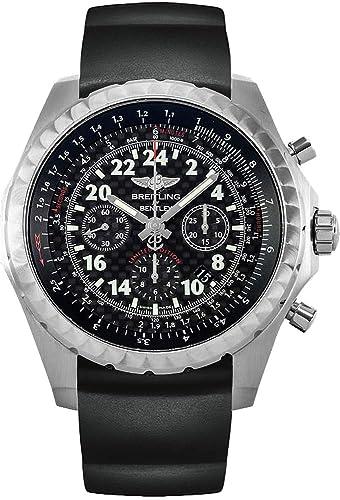 Edición limitada Breitling Bentley - 24H en negro correa de caucho reloj para hombre de acero inoxidable: Amazon.es: Relojes