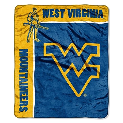 - Officially Licensed NCAA West Virginia Mountaineers School Spirit Plush Raschel Throw Blanket, 50