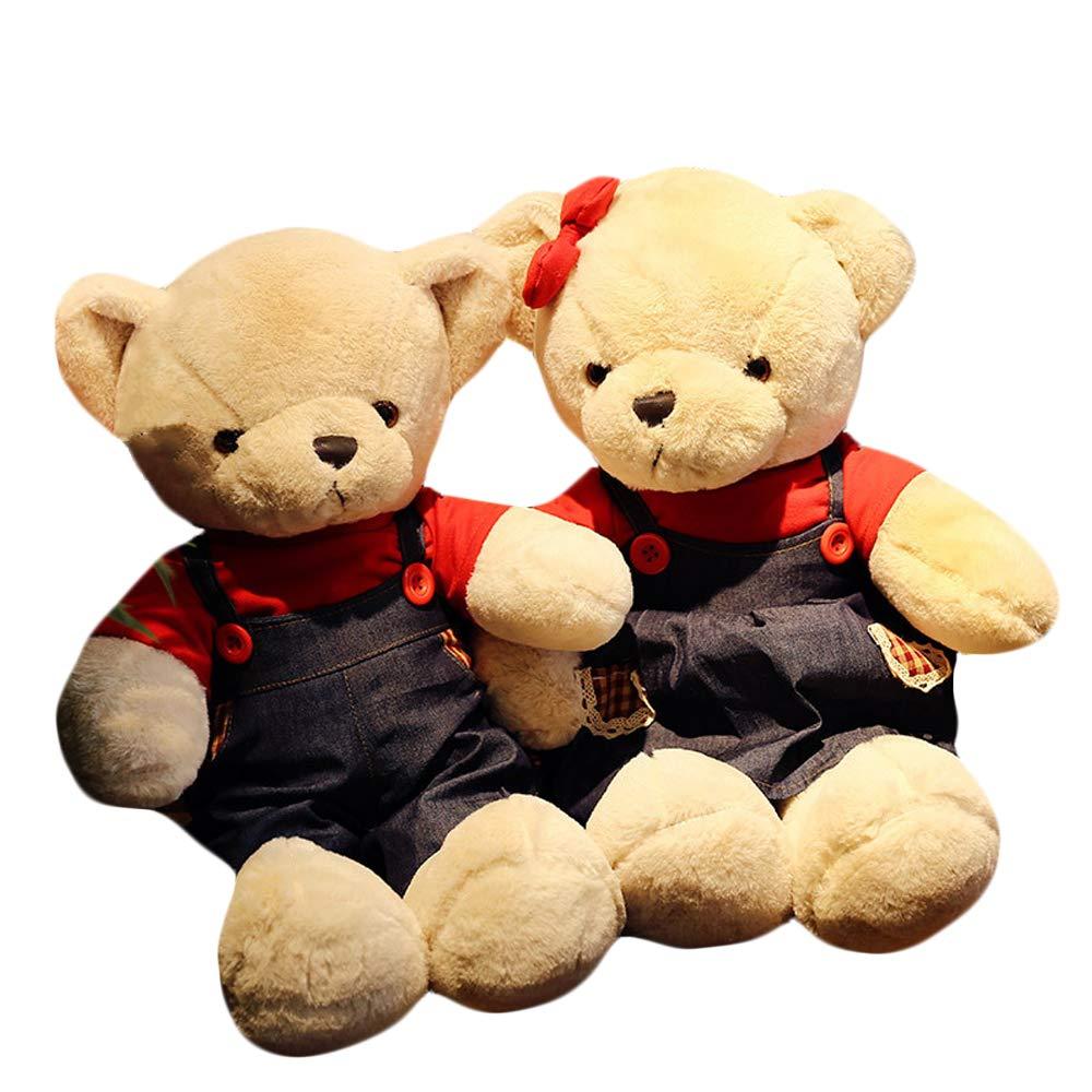 Couple L Zhyaj Bären Puppe, Bequeme Plüschpuppe, Niedliche Spielzeuge und Accessoires Sind Mit Plüsch gefüllt. PP-Baumwolle 5590cm Kann Als Geschenk Oder Spielzeug Verwendet Werden