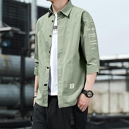 WQDS Camisa de Manga Corta para Hombre Camisa de Camisa de ...
