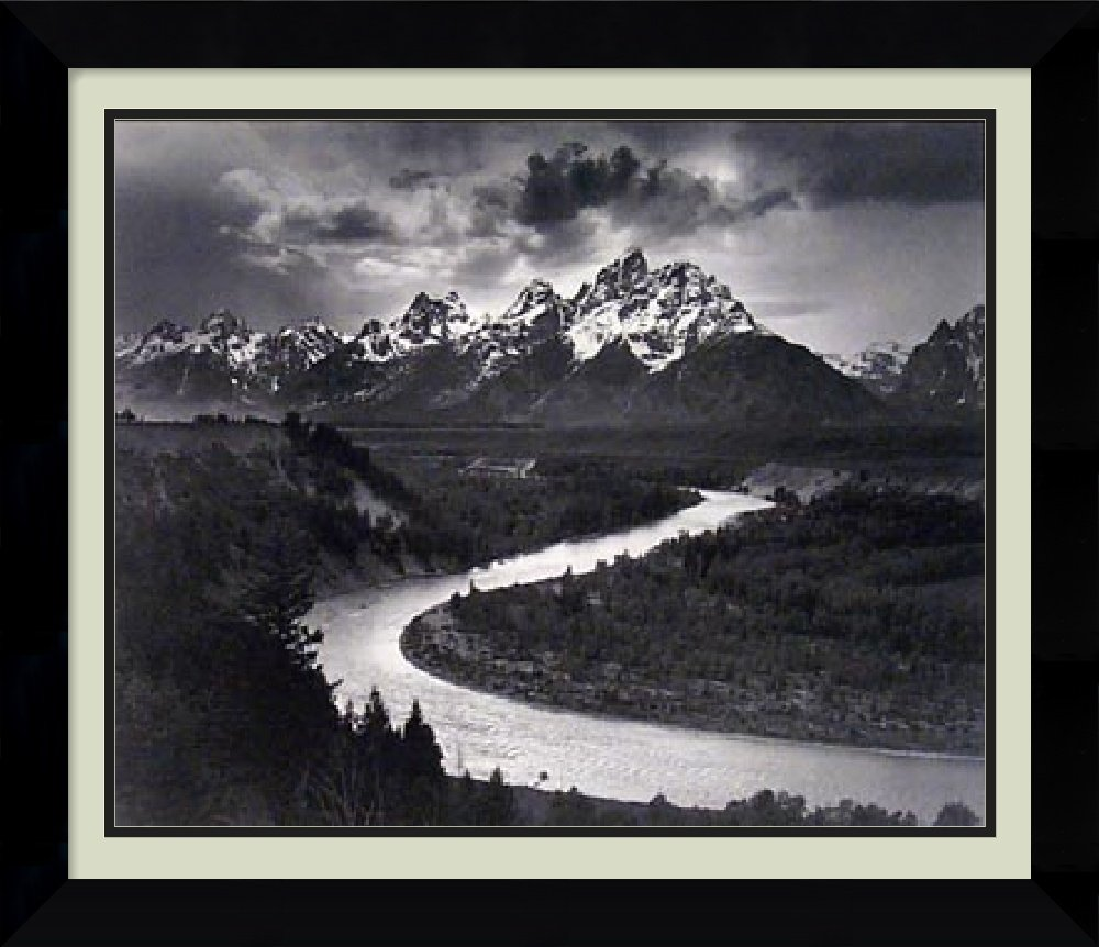 Framed Art Print, 'The Tetons and the Snake River, Grand Teton National Park, Wyoming, 1942' by Ansel Adams: Outer Size 26 x 22''