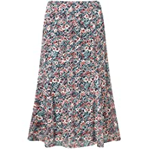 Cotton Traders Womens Ladies Printed Burn Out Skirt