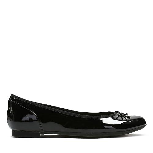 48338de5b909 Clarks Women s Ballet Flats Pumps Shoes Couture Bloom Black Patent 6.5 E UK black  patent   Amazon.co.uk  Shoes   Bags