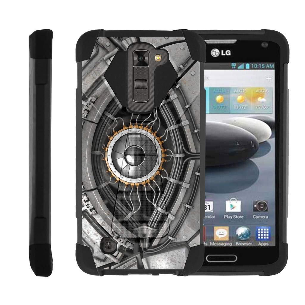 TurtleArmor   Compatible for LG K7 Case   LG Tribute 5 Case   LG Treasure Case [Dynamic Shell] Impact Cover Hard Kickstand Hybrid Shock Fitted Silicone Military War Robot Android - Cyborg Eye