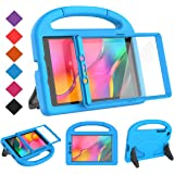 BMOUO for Samsung Galaxy Tab A 8.0 Case 2019 SM-T290/T295, Tab A 8.0 2019 Case with Screen Protector, Shockproof Light Weight Handle Stand Galaxy Tab A 8.0 inch 2019 Kids Case Without S Pen - Blue