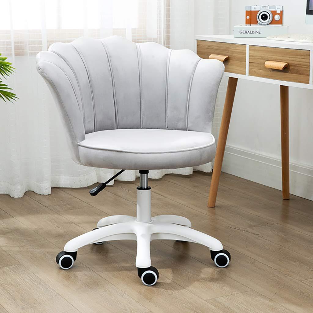 GAOPANG sammet kontorsstol ergonomisk svängbar stol datorstol för hem kontor mottagningsstol justerbar Grått