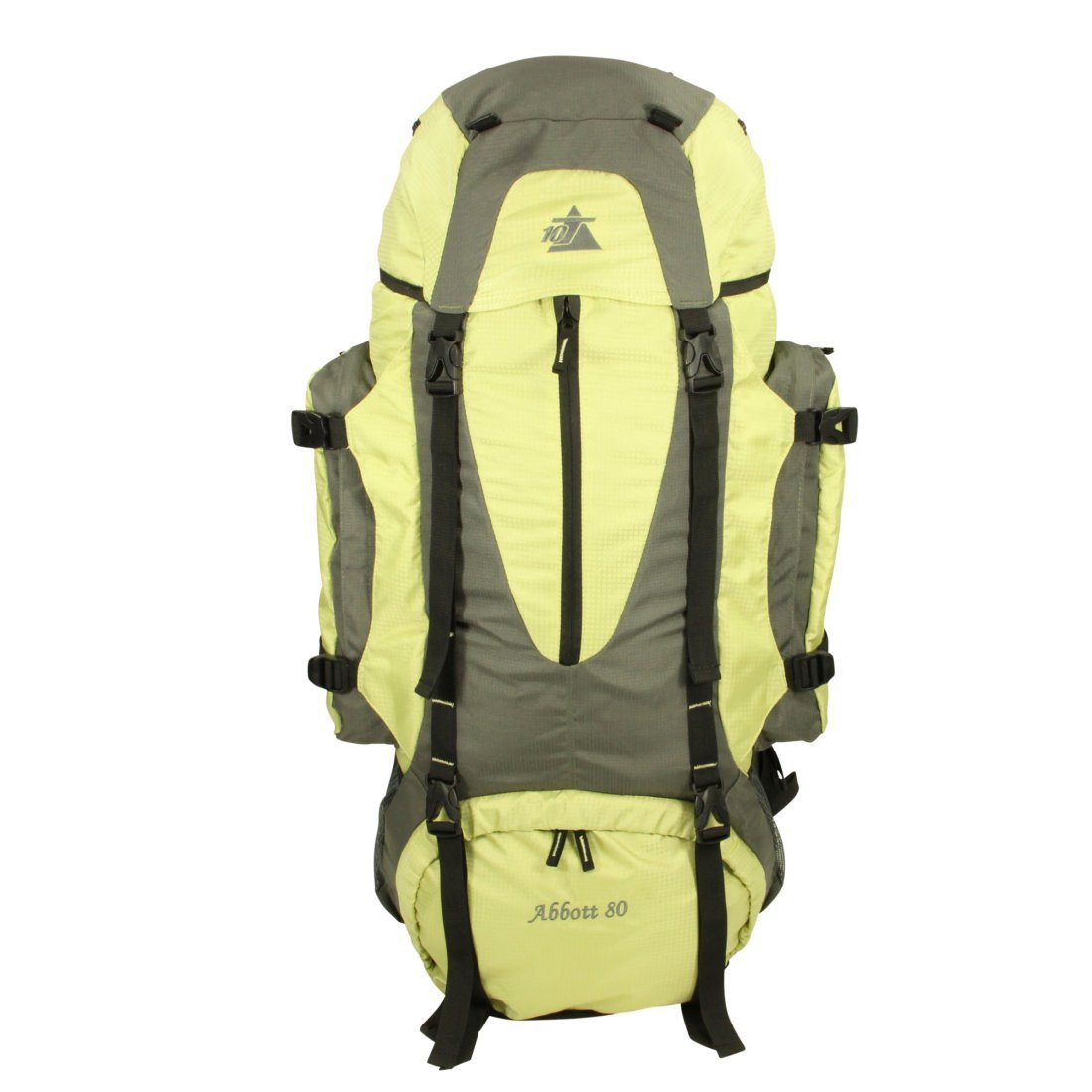 9bac8206eafa8 10T Abbott 80L Rucksack XXL Trekkingrucksack mit Regenschutz Reiserucksack  Rückenlänge Hüft-   Schulter-Gurte größeres Bild